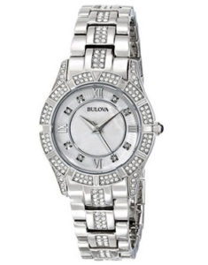 Bulova Watch Reviews of Bulova Women's 96L116 Stainless Steel and Mother-of-Pearl Swarovski Crystal-Accented Watch