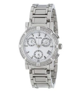 Bulova Watch Reviews of Bulova Women's 96R19 Diamond-Studded Chronograph Watch