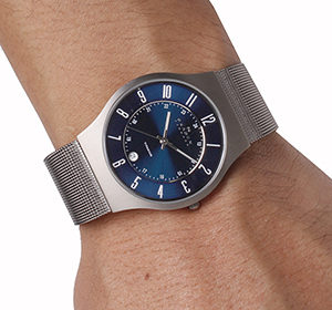 Skagen Titanium Blue Dial Watch