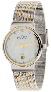 Skagen Watch Reviews of Skagen Silver and Gold Tone Mesh Watch