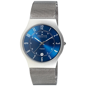 Skagen Watch Reviews of Skagen Titanium Blue Dial Watch