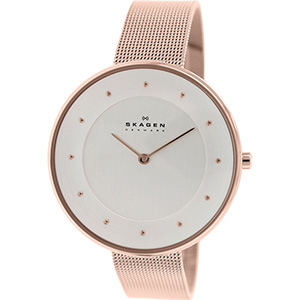 Skagen Watch Reviews of Skagen Women's SKW2142 Gitte Rose Gold-Tone Stainless Steel Watch with Mesh Band
