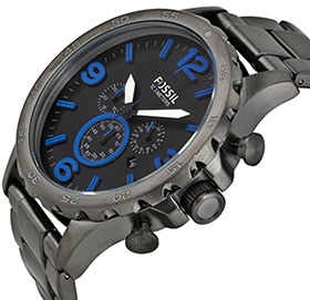 Fossil Men's JR1478 Nate Chronograph Stainless Steel Watch