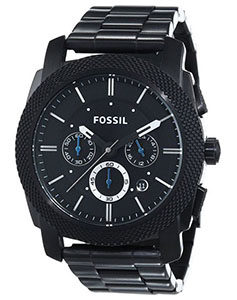 Fossil Watch Reviews of Fossil Men's FS4552 Machine Black Stainless Steel Chronograph Watch
