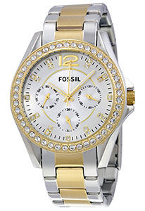 Fossil Watch Reviews of Fossil Women's ES3204 Riley Silver and Gold Tone Watch