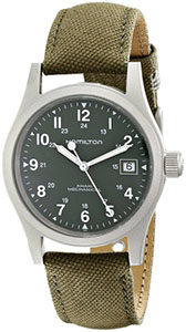 Hamilton Watch Reviews of Hamilton Men's HML-H69419363 Stainless Steel Watch with Khaki Field Green Strap