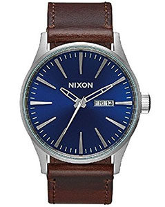 Nixon Watches Review of Nixon Men's A105 Sentry 42mm Stainless Steel Leather Quartz Movement Watch