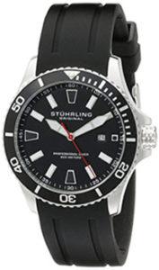 Stuhrling Watches Review of Stuhrling Original Aquadiver Regatta Mens Black Watch - Quartz Analog Swim Sports Watch - Black Dial Date Display Waterproof Watch