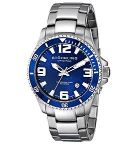 Stuhrling Watches Review of Stuhrling Original Men's 395.33U16 Aquadiver Regatta Analog Swiss Quartz Stainless Steel Link Bracelet Watch