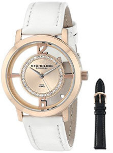Stuhrling Watches Review of Stuhrling Original Women's 388L2.SET.03 Analog Winchester Tiara Swiss Quartz 16K Rose Gold-Plated Watch with Interchangeable Strap