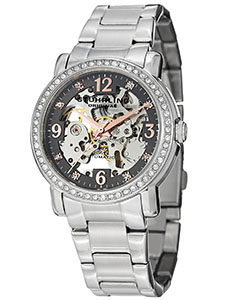 Stuhrling Watches Review of Stuhrling Original Women's 531L.111154 Canterbury Automatic Skeleton Crystals Grey Dial Watch