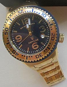Swiss Legend Men's 21848P-YG-33-GB Neptune Force Analog Display Swiss Quartz Gold Watch
