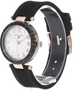 Swiss Legend Women's 16002SM-RG-02-BB Sea Breeze Analog Display Swiss Quartz Black Watch