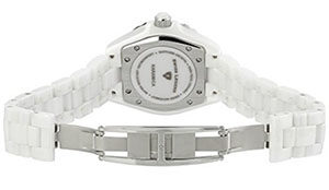 Swiss Legend Women's 20050-WWSR Karamica Collection Stainless Steel Watch with White Ceramic Bracelet