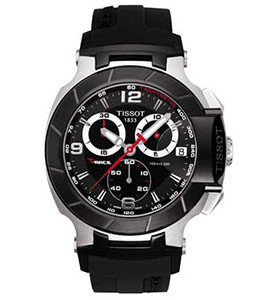 Tissot Watches Review of Tissot Men's T0484172705700 T-Race Black Chronograph Dial Watch