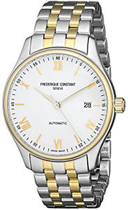 Best Mens Watches Under 1000 of Frederique Constant Men's FC- 303WN5B3B 'Index' White Dial Two Tone Stainless Steel Swiss Automatic Watch