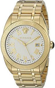 Best Mens Watches Under 1000 of Versace Men's VFE150015 V-Sport Analog Display Quartz Gold Watch