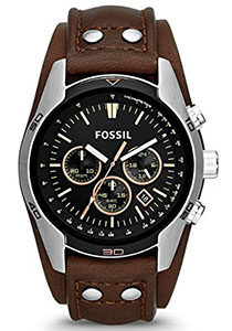 Best Mens Watches Under 200 of Fossil Men's CH2891 Coachman Chronograph Brown Leather Watch