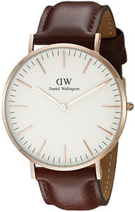 Best Watches Under 200 of Daniel Wellington Men's 0106DW St. Mawes Stainless Steel Watch with Brown Band