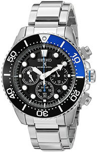 Best Watches Under 200 of Seiko Men's SSC017 Prospex Solar Stainless Steel Dive Watch