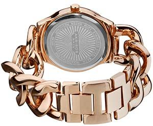Akribos Watches Review of Akribos XXIV Women's AK558RG Quartz Multi-Function Crystal-Accented Twist-Chain Watch in Rose-Gold Tone