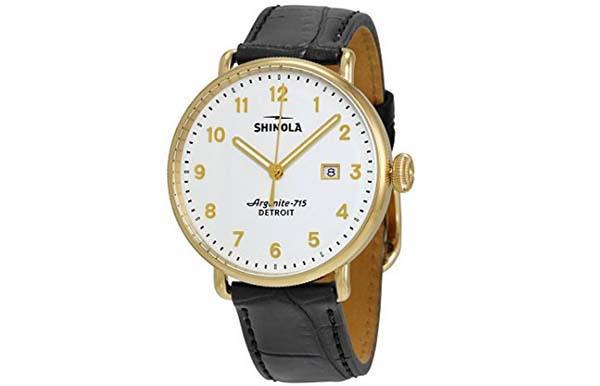 Shinola Watch Review of Shinola The Canfield White Dial Gold PVD Mens Watch 12001938