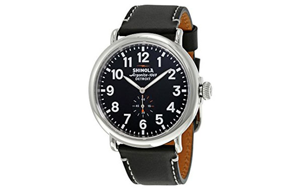 Shinola Watch Review of Shinola The Runwell Black Dial Black Leather Mens Watch S0100012