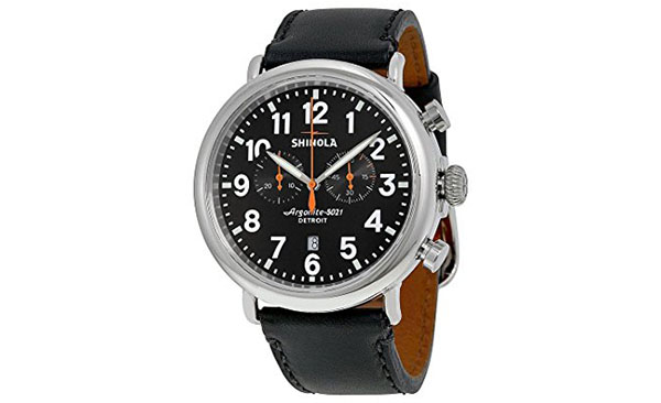 Shinola Watch Review of Shinola The Runwell Chronograph Black Dial Black Leather Mens Watch S0100051